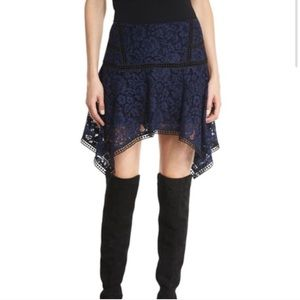 Veronica Beard Navy Blue Lace Skirt Size 8